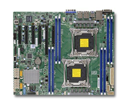 SUPERMICRO MB 2xLGA2011-3, iC612 8x DDR4 ECC,10xSATA3,(PCI-E 3.0/1,3,1(x16,x8,x4)PCI-E 2.0/1(x4),2x LAN,IPMI, MBD-X10DRL-i-O