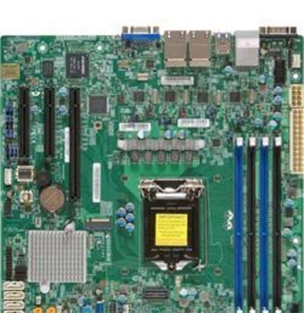 SUPERMICRO MB 1xLGA1151, iC236,DDR4,8xSATA3,PCIe 3.0 (1 x8 (in x16), 1 x8, 1 x4 (in x8)), 1x M.2 NGFF, 4xLAN,IPMI, MBD-X11SSH-LN4F-O