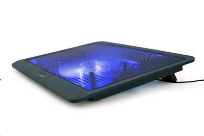 """Podstavec pod notebook Gembird NBS-1F15-03, pro notebooky do 15.6"""", 125m větrák, LED, černý, NTP05P007"""