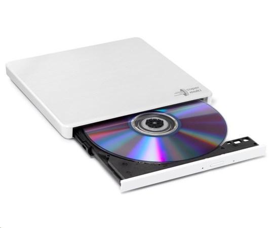 HITACHI LG - externí mechanika DVD-W/CD-RW/DVD±R/±RW/RAM GP60NW60, Slim, White, box+SW, GP60NW60
