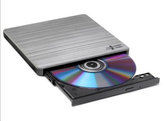 HITACHI LG - externí mechanika DVD-W/CD-RW/DVD±R/±RW/RAM GP60NS60, Slim, Silver, box+SW, GP60NS60