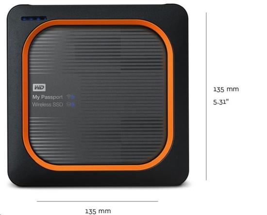 WD My Passport Wireless SSD 250GB Ext. USB3.0, SD Card,, WDBAMJ2500AGY-EESN