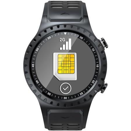 EVOLVEO SportWatch M1S, chytré sportovní hodinky s podporou SIM, šedočerný pásek