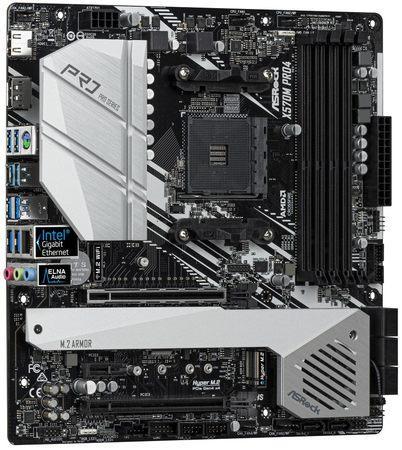 ASRock X570M PRO4 / AM4 / 4x DDR4 DIMM / HDMI / DP / 2x M.2 / USB Type-C / mATX, X570M PRO4
