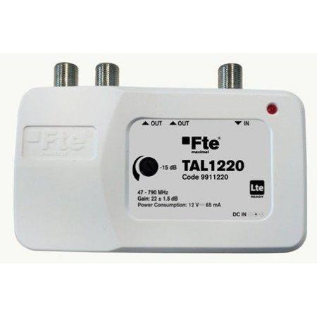 FTE linkový zesilovač TAM 1220/TAL 1220 s LTE filtrem a regulací zisku, 2x výstup