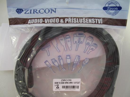 Zircon HDMI kabel 3M FLAT- plochý Premium