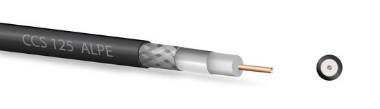 Koaxiální kabel Zircon CCS 125 ALPE černý - návin 100 m