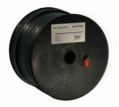 Koaxiální kabel Zircon CU 125 CUPE - návin 100 m
