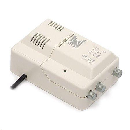 anténní zesilovač ALCAD CA-215 1x vstup UHF,VHF+FM - 2x výstup