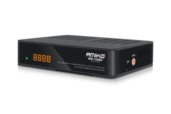 AMIKO DVB-S2/T2/C přijímač Mini HD COMBO EXTRA, CX PVR LAN, H.265 (HEVC)