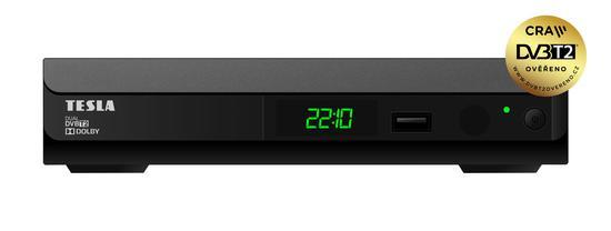 TESLA Duplex T2 - Dual, DVB-T2 přijímač, H.265 (HEVC)
