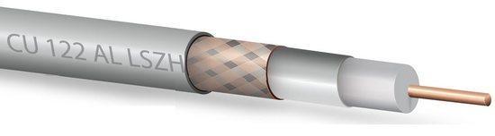 Koaxiální kabel Zircon CU 122 AL LSZH - bezhalogenní- návin 150 m