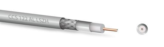 Koaxiální kabel Zircon CU 122 AL LSZH - bezhalogenní- návin 300 m