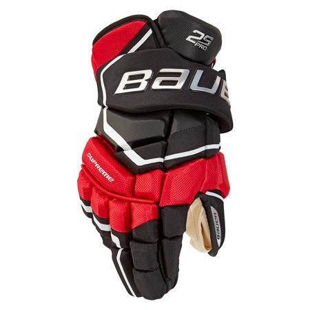 """Rukavice Bauer Supreme 2S Pro S19 JR, černá-červená, Junior, 10"""""""
