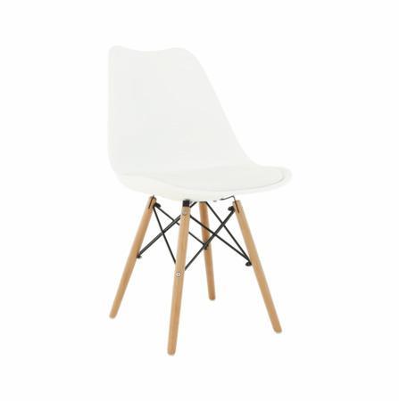 Tempo Kondela Židle, bílá/buk, Kemal NEW