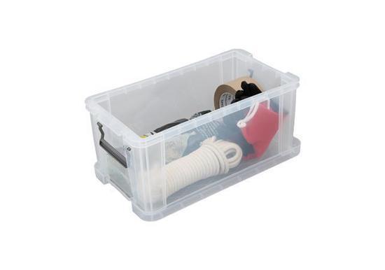 Box, plastový, s víkem, 7,5 l, průhledný, ALLSTORE