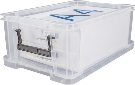 Box, plastový, s víkem, 10 l, průhledný, ALLSTORE