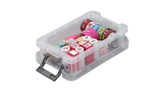 Box, plastový, s víkem, 0,55 l, průhledný, ALLSTORE
