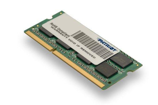 Patriot 4GB SO-DIMM DDR3-1333MHz 1,35V DR, PSD34G1333L2S