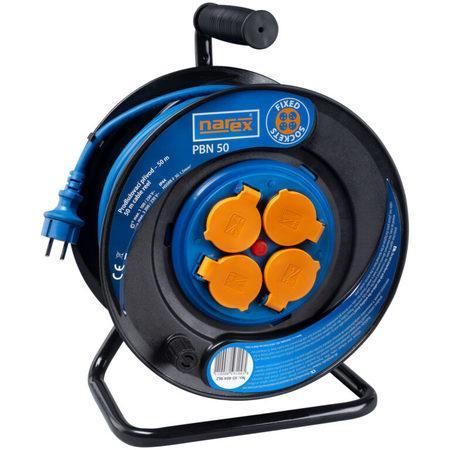 NAREX 65404962 Kabel 50m na cívce 4zásuvky IP44 3x1,5mm guma PBN50