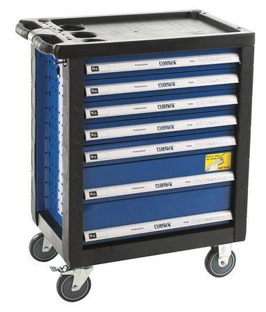 NAREX 443000971 Montážní skříň pojízdná prázdná (7 zásuvek)