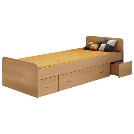 IDEA nábytek Jednolůžko s úložným prostorem 90x200