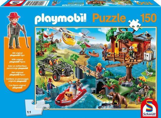 SCHMIDT Puzzle Playmobil Domek na stromě 150 dílků + figurka Playmobil