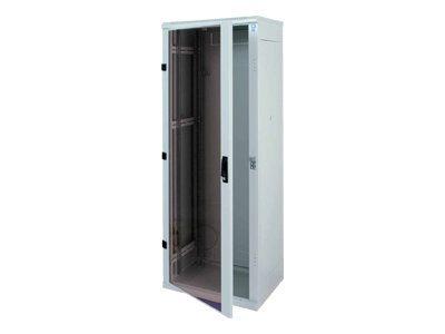 """Triton 19"""" rozvaděč stojanový 27U/600x600, skleněné dveře"""