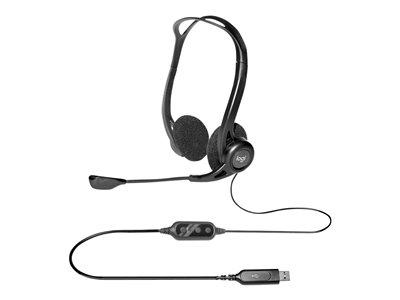 Logitech náhlavní souprava Headset 960 USB, černé