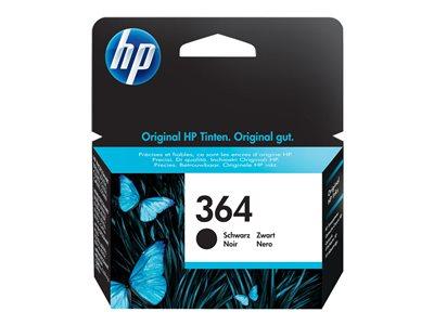 HP Ink Black č.364 pro HP Photosmart B8550, C5380, D5460, 250 str. (CB316EE), 883585705023