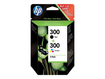 HP 300 Dvojbalení černé/tříbarevné originální inkoustové kazety, CN637EE
