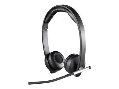 Logitech náhlavní souprava Wireless Headset Dual H820e, černá