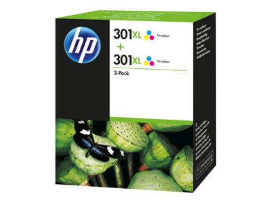 D8J46AE Inkoust multipack pro DeskJet 2050 tiskárny, HP 301 XL, barevná, 2x330 stran, D8J46AE