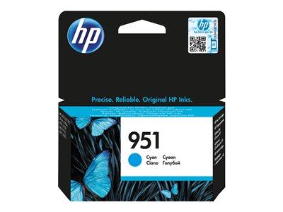 HP inkoustová kazeta 951 azurová CN050AE originál, CN050AE