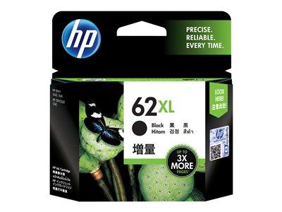 Inkoustová cartridge HP 62XL, do tiskárny ENVY 5540, OfficeJet 252, černá, 0,6k, HP