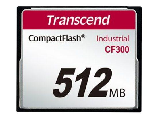 Transcend 512MB INDUSTRIAL CF300 CF CARD, high speed 300X paměťová karta (SLC)