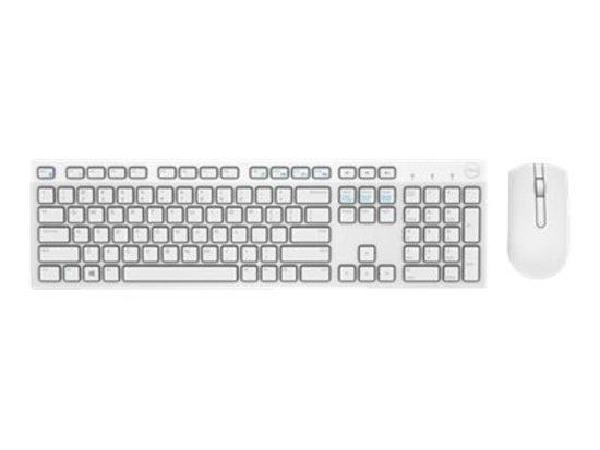Dell, Wireless Keyboard and Mouse-KM636 - US International (QWERTY) - White, Brown box,1Y, 580-ADGF