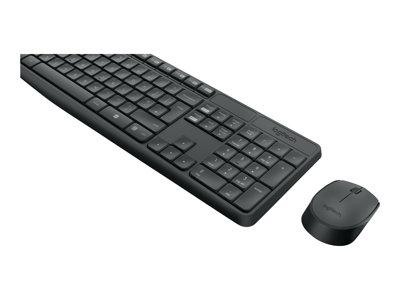LOGITECH set MK235/ Bezdrátová klávesnice + myš/ 2.4GHz/ USB přijímač/ CZ/ šedý