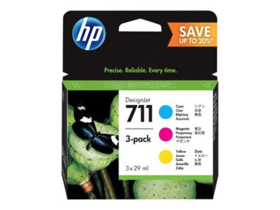 HP no 711 CMY - 3 pack, P2V32A, P2V32A