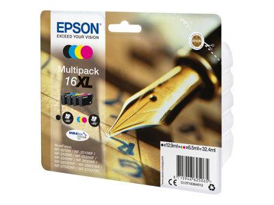 T16364010 Inkoustová cart., multipack, pro tiskárnu Workforce WF2540WF, EPSON B+C+M+Y, 32,4ml, box 4 ks, C13T16364012