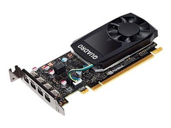 NVIDIA Quadro P620 2GB GDDR5, 4x miniDisplayPort 1.4, 2x adapter mDP->DP, PCIe 16x, low profile, 3ME