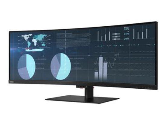 """Lenovo LCD P44w-10 Wide 43.4"""" VA matný/32:10/3840x1200/380 cd-m2/3000:1/6ms/HDMI+DP+4xUSB 3.0+3xUSB-C/repro/VESA/Pivot, 61D9RAT1EU"""