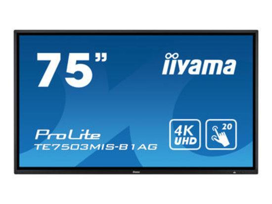 IIYAMA, IIYAMA 75 W LCD IR 20-Points Touch 4K UH, TE7503MIS-B1AG