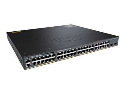 Cisco Switch Catalyst 2960-X 48 GigE PoE 370W, 2 x 10G SFP+ LAN Base, WS-C2960X-48LPD-L