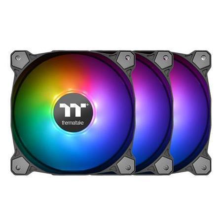 THERMALTAKE Pure 14 ARGB Sync (TT Premium Edition 3pack) ventilátor PWM - 140x25mm (3 ks v balení, řízené LEDky, s řadičem), CL-F080-PL14SW-A