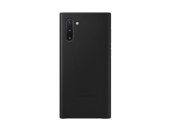 EF-VN970LBE Samsung Kožený Kryt pro N970 Galaxy Note 10 Black