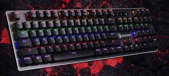 A4tech Bloody B760W mechanická RGB herní klávesnice podsvícená, USB, CZ, B760W