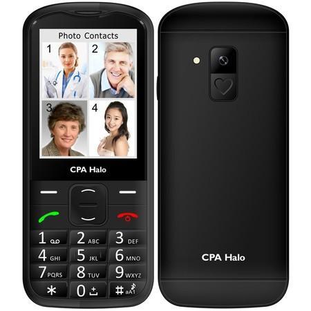 Mobilní telefon CPA Halo 18 Senior s nabíjecím stojánkem - černý