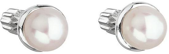 Evolution Group Stříbrné náušnice s perlou Pavona 21003.1