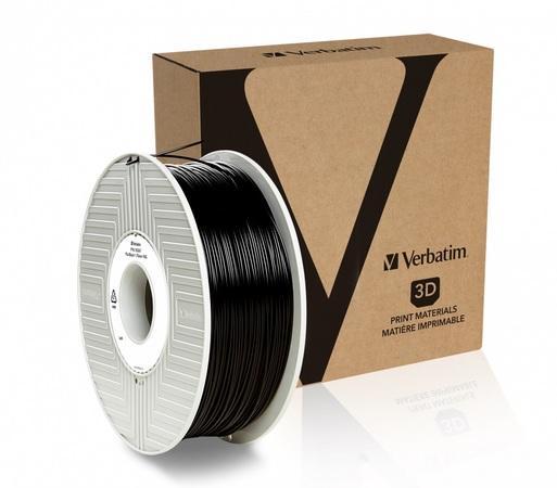 VERBATIM 3D Printer Filament PLA 1,75mm 1kg black, 55318